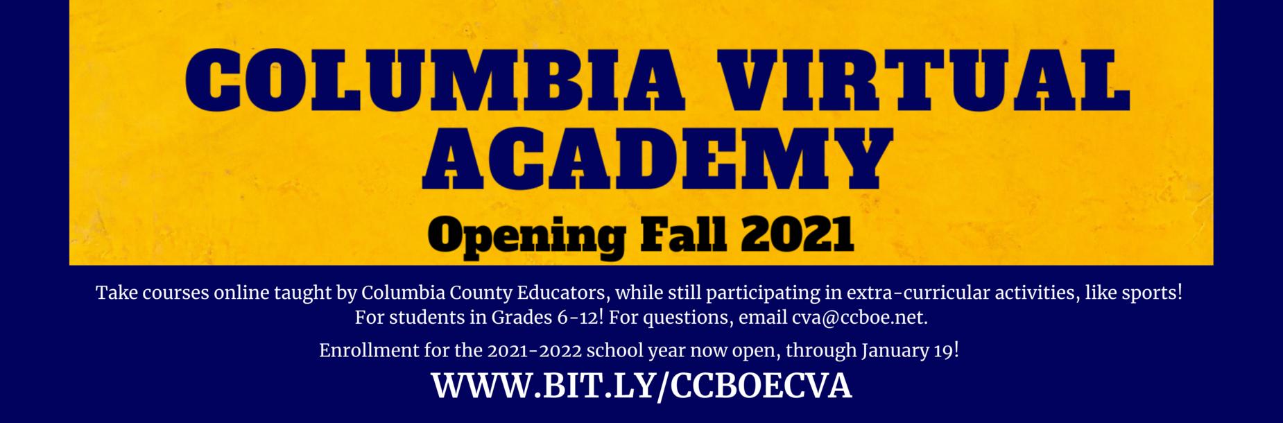Columbia Virtual Academy www.bit.ly/ccboecva