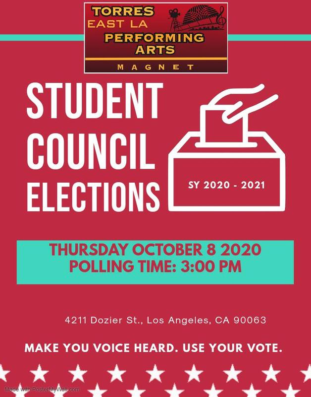 TORRES EAST LA PERFORMING ARTS MAGNET -STUDENT ELECTIONS SCHOOL YEAR 2020-2021 -  CLICK HERE TO VOTE Featured Photo
