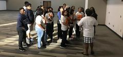 WOS ECHS students tour Lamar State College - Orange.