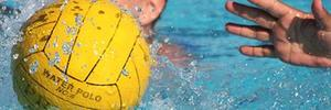 water polo ball in play