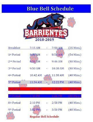 BMS Bell Schedule