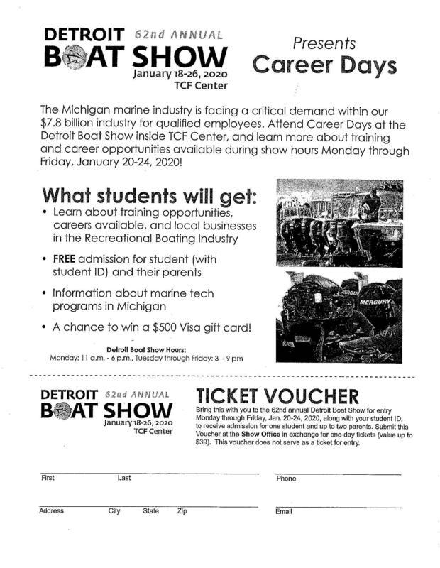 Detroit Boat Show Career Days