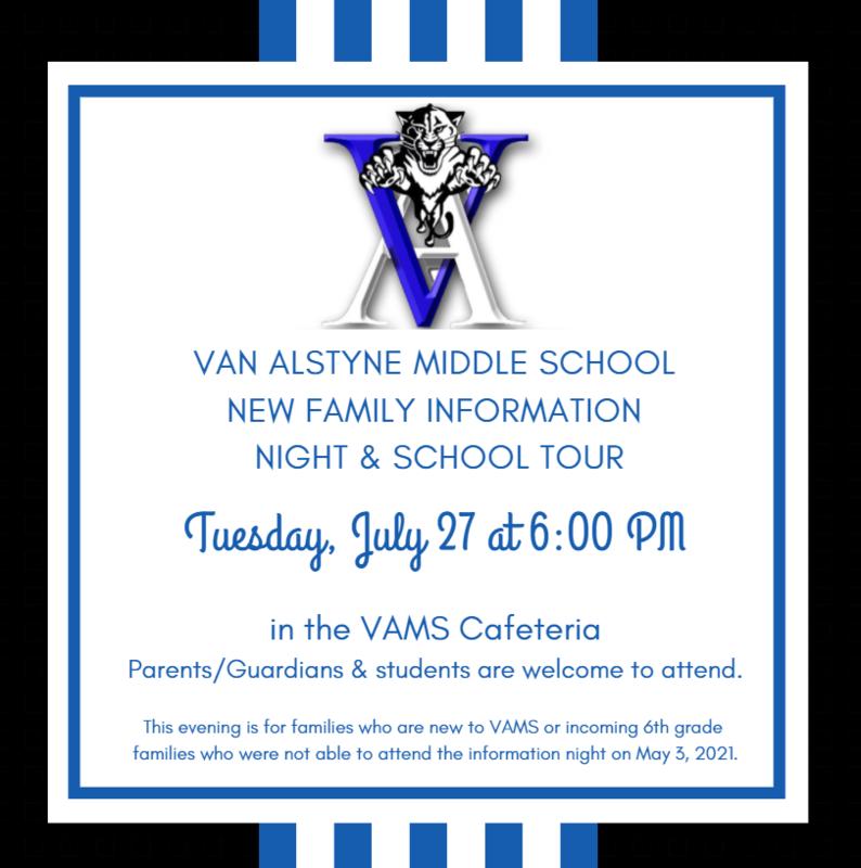VAMS New Family Information Night Thumbnail Image