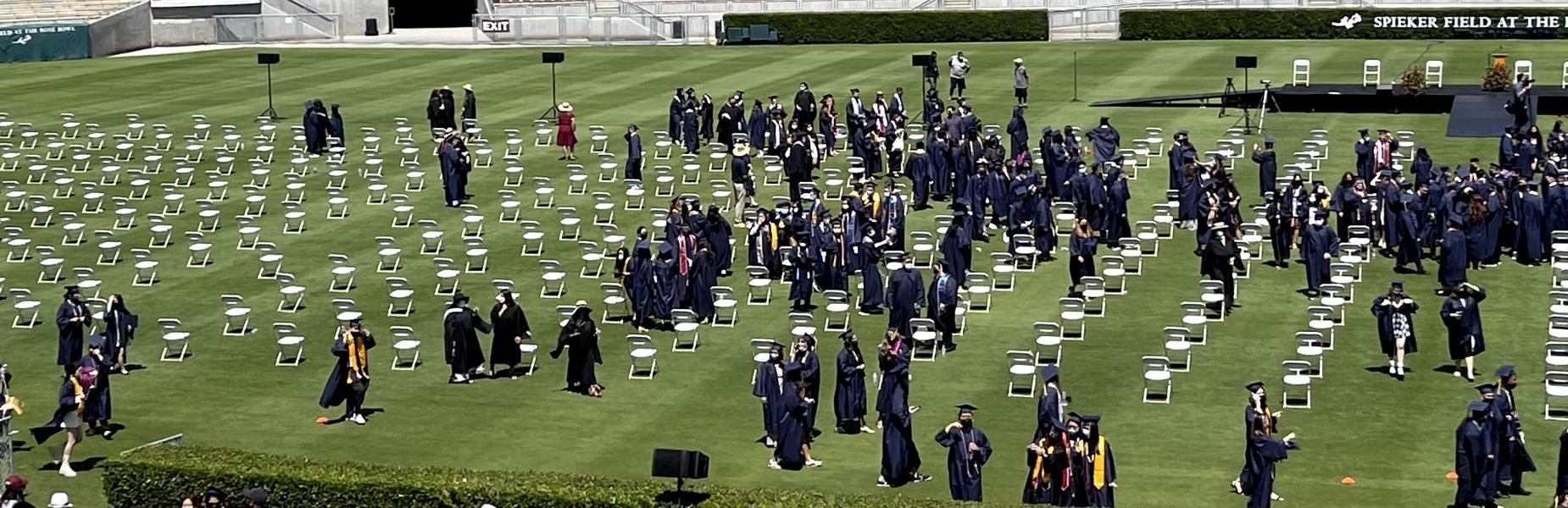 Graduation at the Rose Bowl - May 27, 2021 (courtesy of A. Chang)
