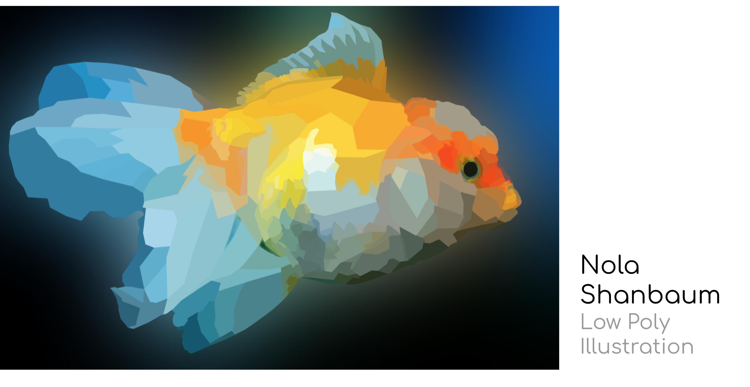 Student art - Low Poly Illustration by Nola Shanbaum