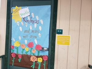 Posters made by students teaching about being kind.