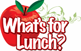 School Lunch Menu Clipart