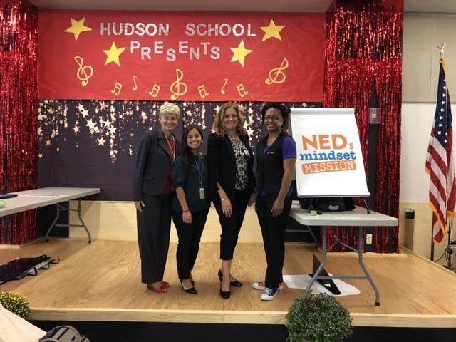 Principal Tamargo with VP Medina and two female Presenters from Power of Yet