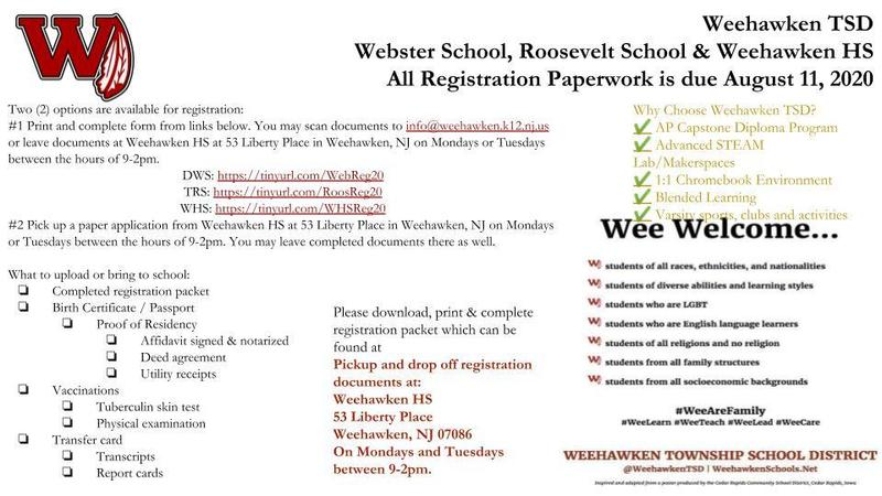 2020-2021 School Year Registration