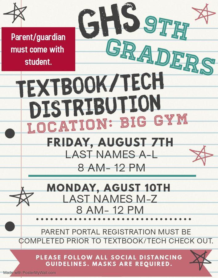 2020-21 Textbook/Technology Distribution