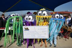 The WSISD Education Foundation awarded North Elementary with a $250 check. North took third place in raising the most money in the BRRRewer Bear Plunge on Jan. 26 and second in the costume contest.