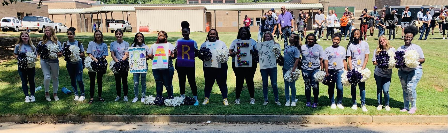 Students at Emerald High School Celebrate Parker Egbert at Parade