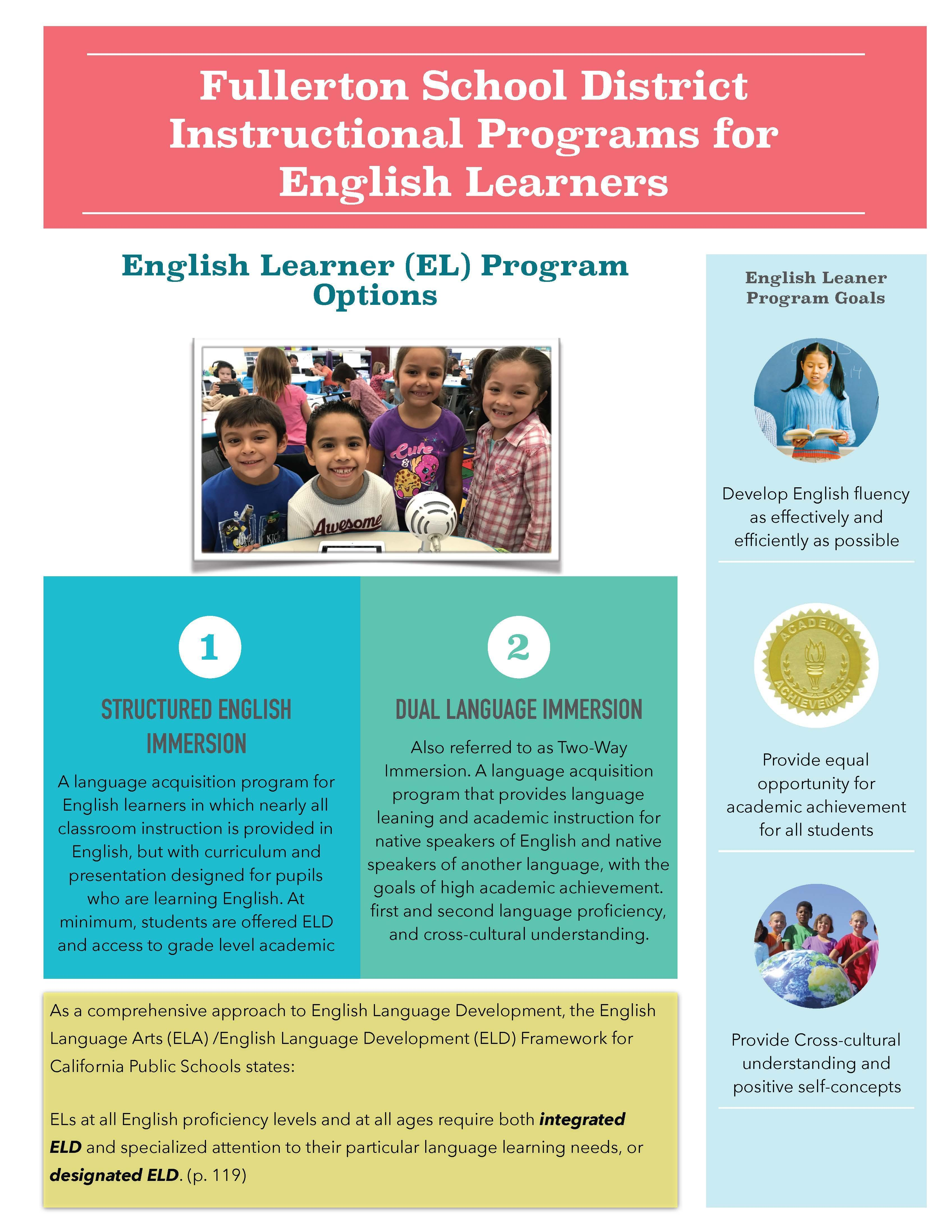 Instructional Programs for English Learners