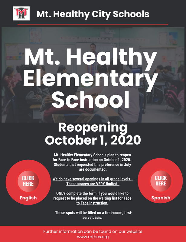 elementary flyer for reopening