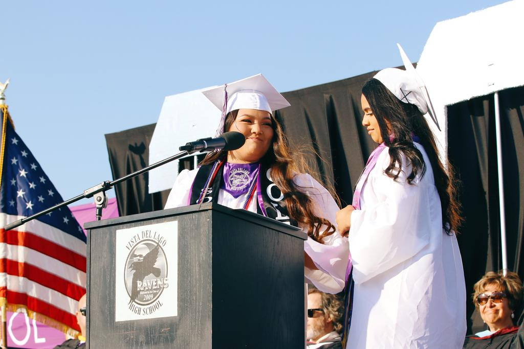 class president speaking to class of 2019