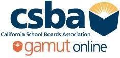 CSBA California School Boards Association Gamut Online logo
