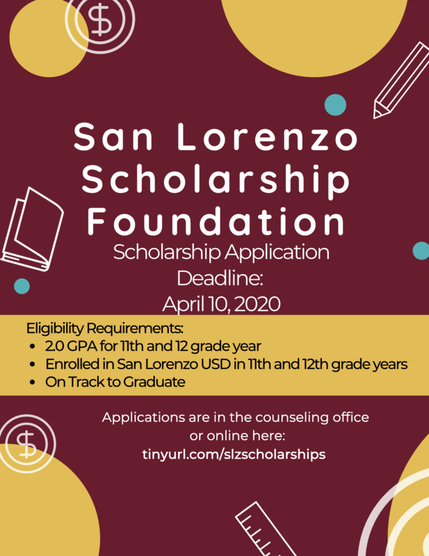 SLzUSD Scholarship Application Deadline Extended to April 10! Featured Photo