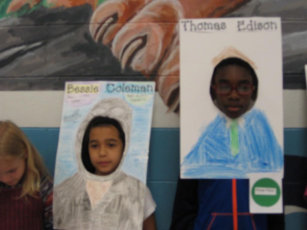 Wax Museum-Bessie Coleman and Thomas Edison