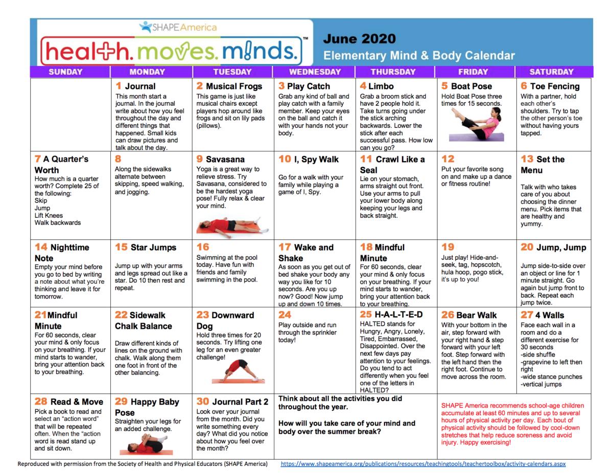 June Shape Calendar