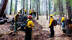 QHS Fire Field Day with Forest Service Wildland Fire Fighters