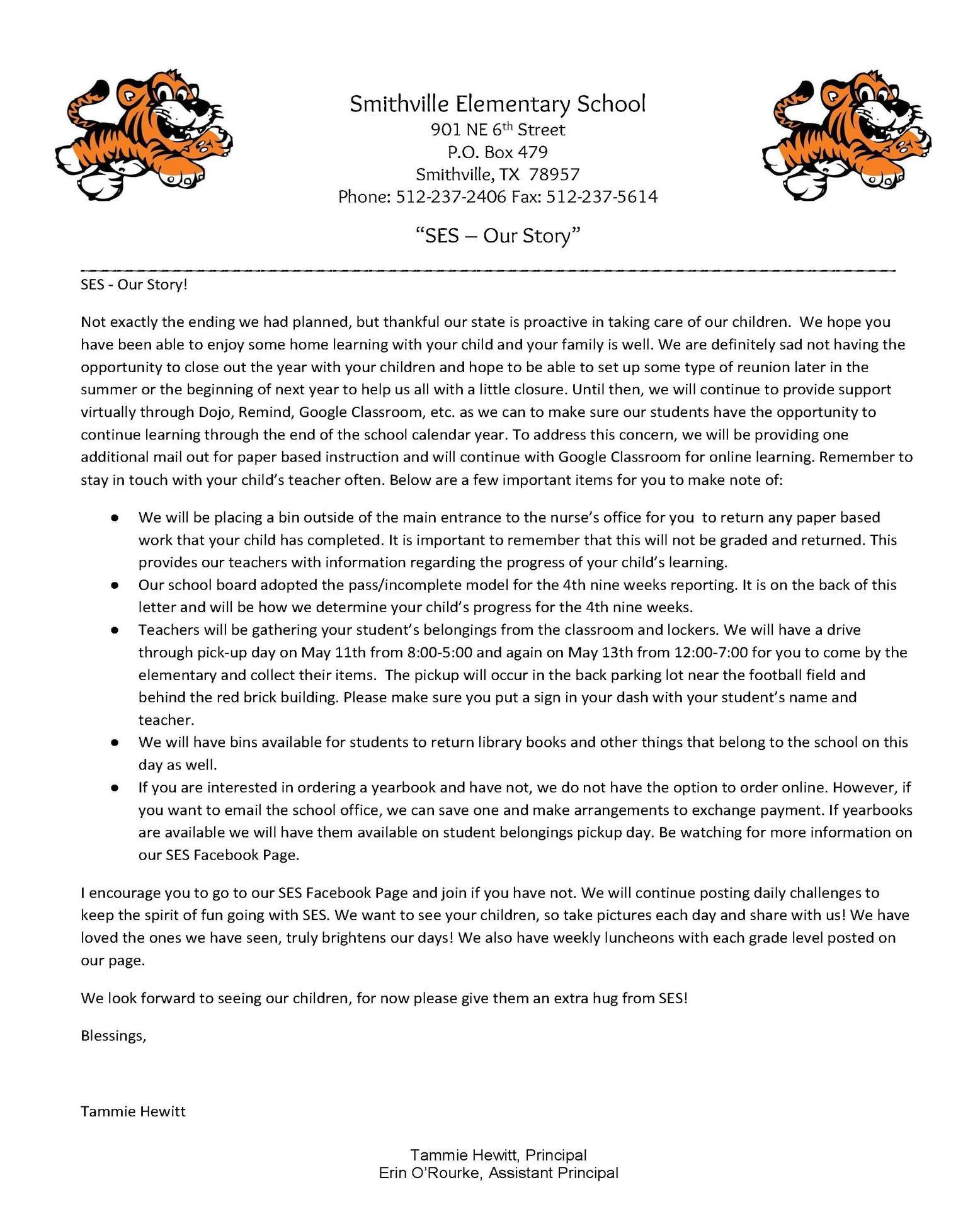 SES Parent Letter