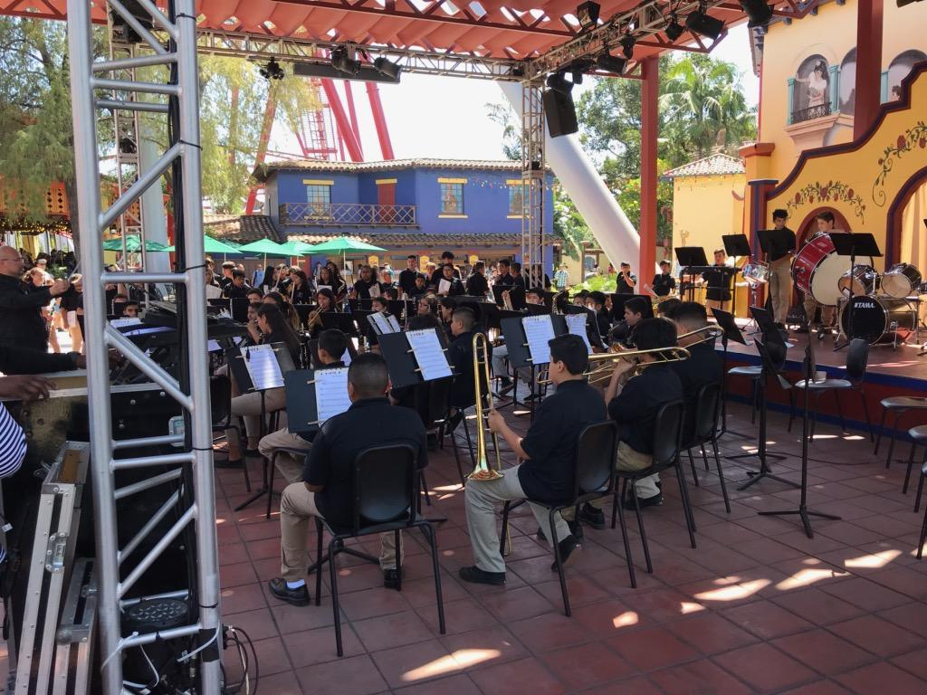 Beginning bands performing @ Knott's Berry Farm 4/12/19