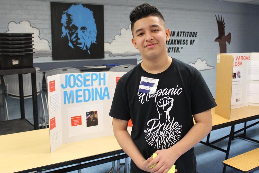 boy with his research on joseph medina