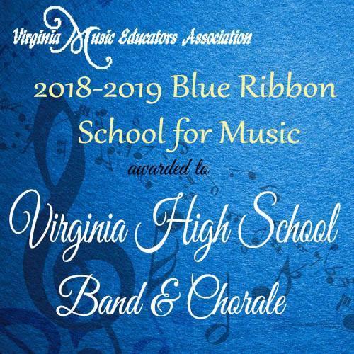 VHS Music Department Earns VMEA Blue Ribbon School for Music Award!