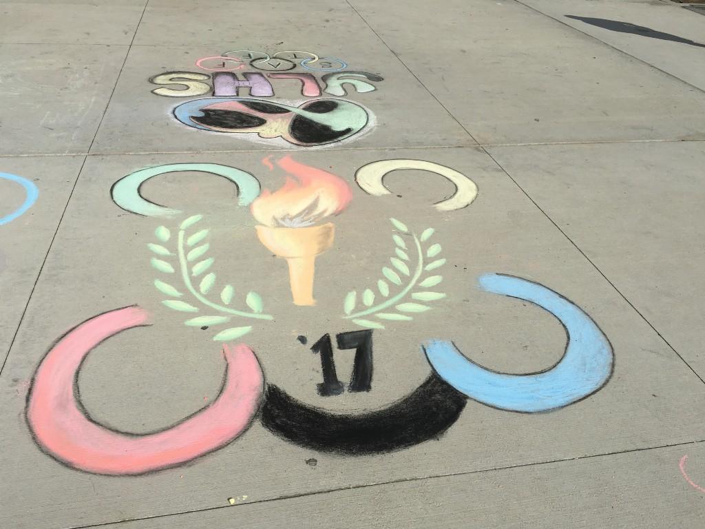 YLHS olympics chalk art