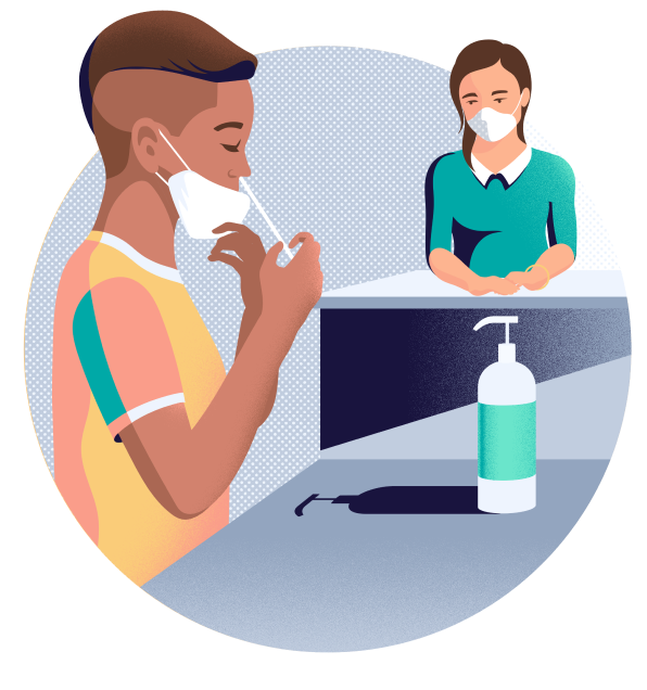 Nasal Swab testing, courtesy: https://www.color.com/