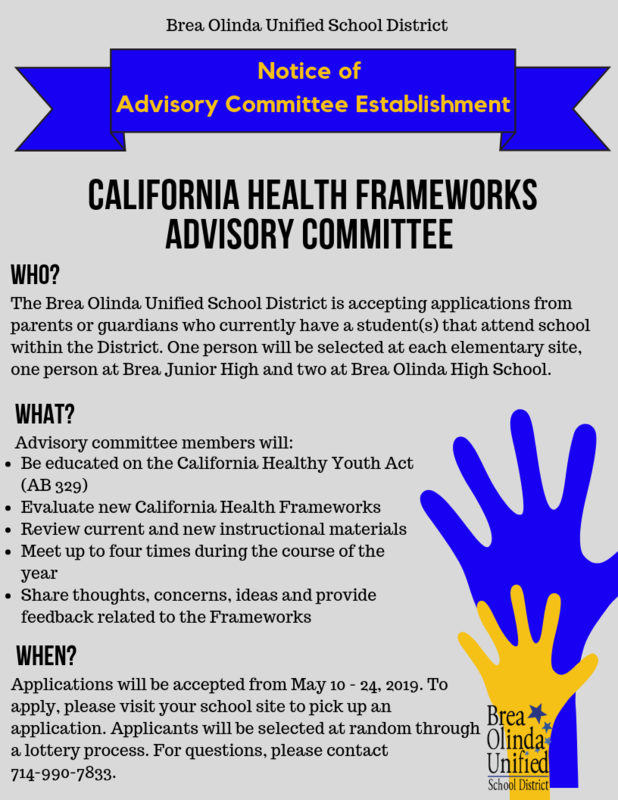 CA Frameworks Advisory Committee