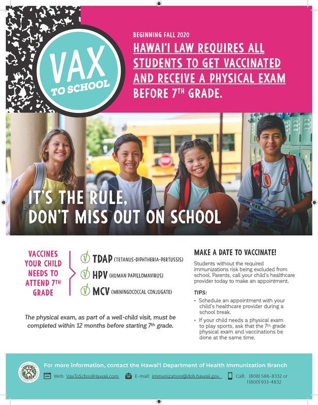 VAX to School flyer image