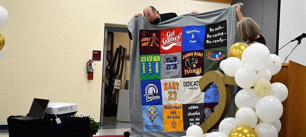 Dr. Mitchell retirement quilt