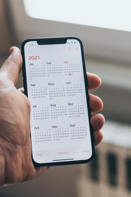 2021 Calendar on Phone