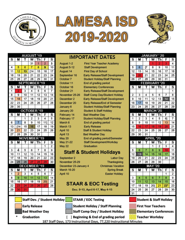 2019-2020 District Calendar Thumbnail Image