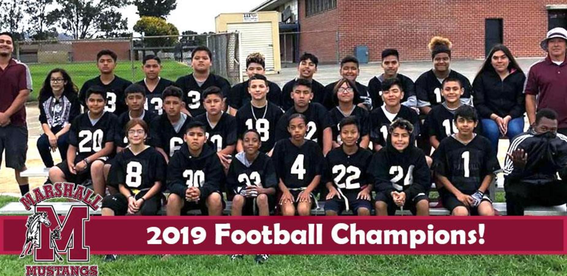 2019 Football Champions! Congratulations Mustangs!
