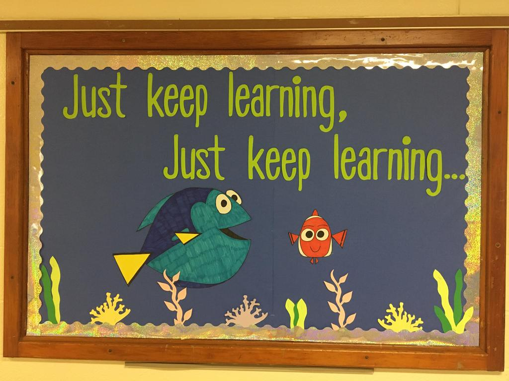 Just keep learning mural
