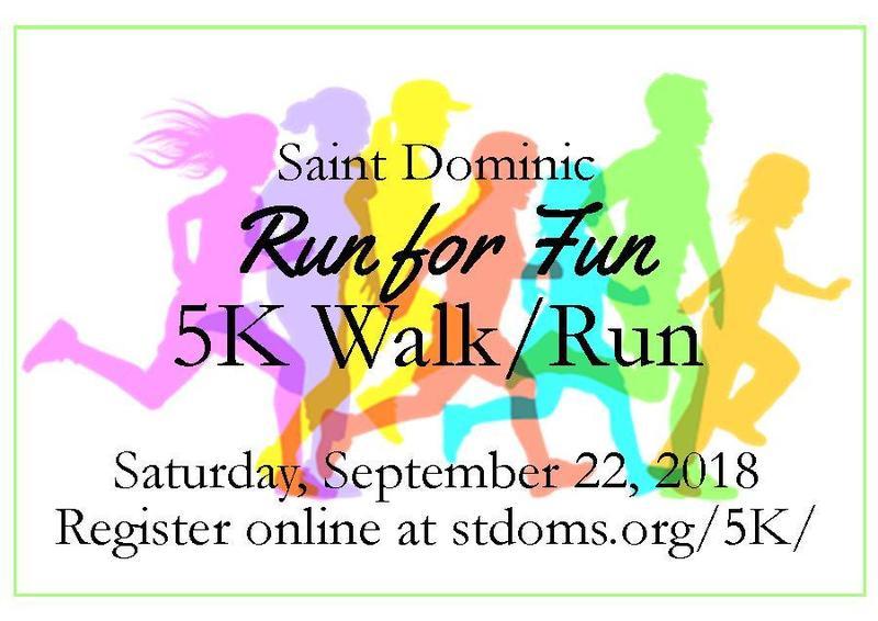St. Dominic Run for Fun 5K Walk/Run - Saturday, September 22nd Featured Photo