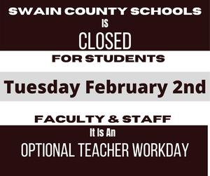 Teacher workday Feb 2