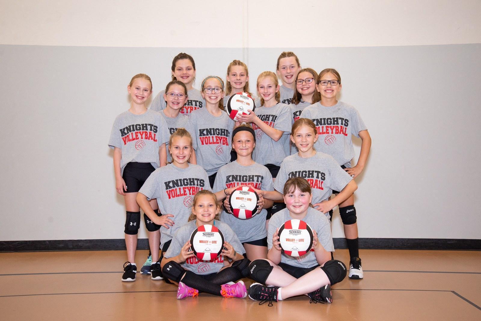 5th Grade Volleyball Team Photo