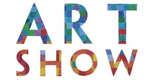multicolor art show sign