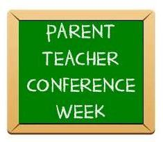 CHALKBOARD PARENT TEACHER CONFERENCE WEEK
