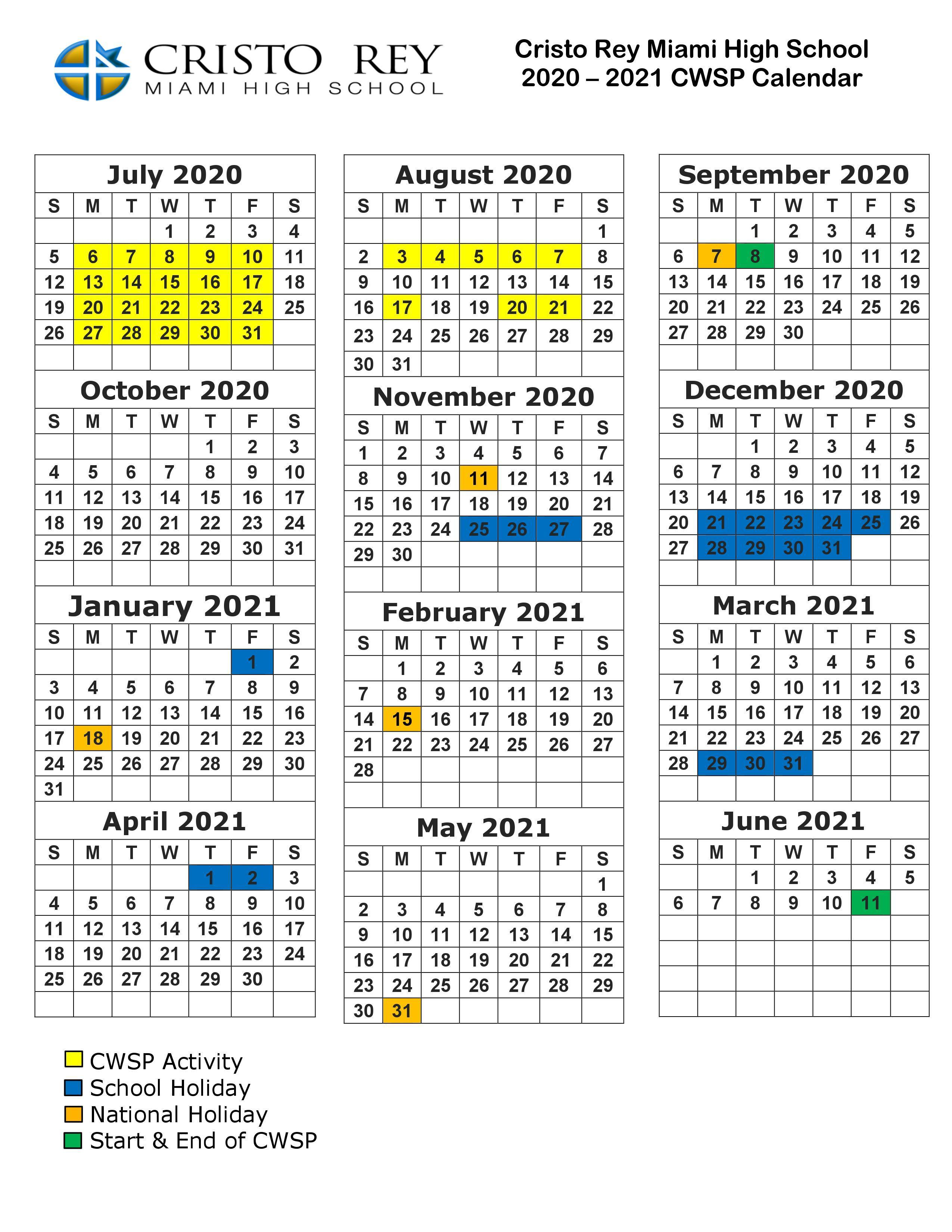 CWSP Calendar
