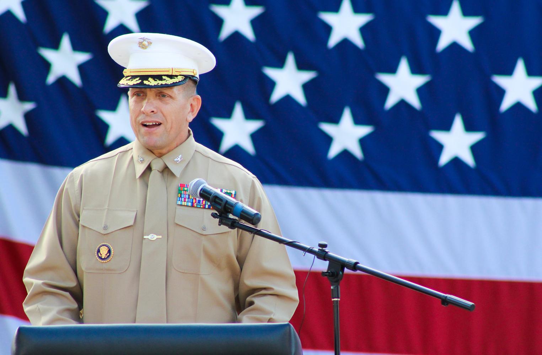 Veterans Day ceremony at El Dorado High.