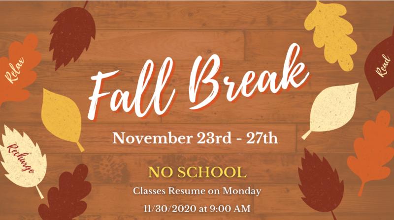 Fall Break / Descanso de Otoño Featured Photo