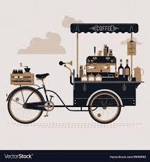 image of vintage coffee cart