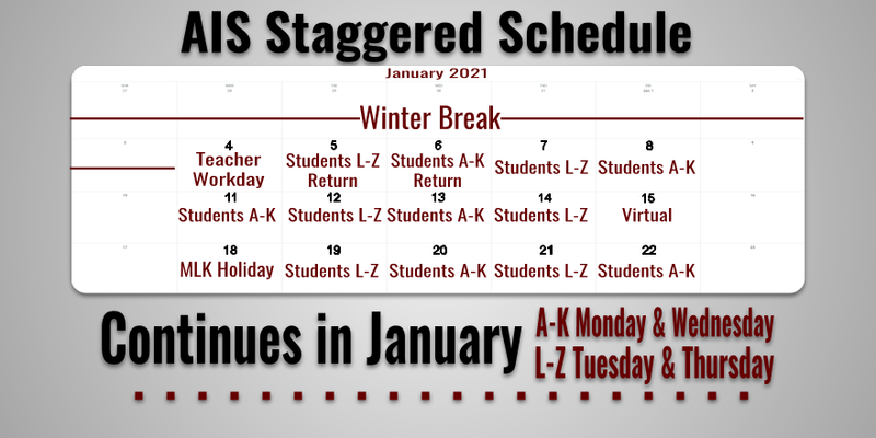Staggered Schedule Continues in January Featured Photo