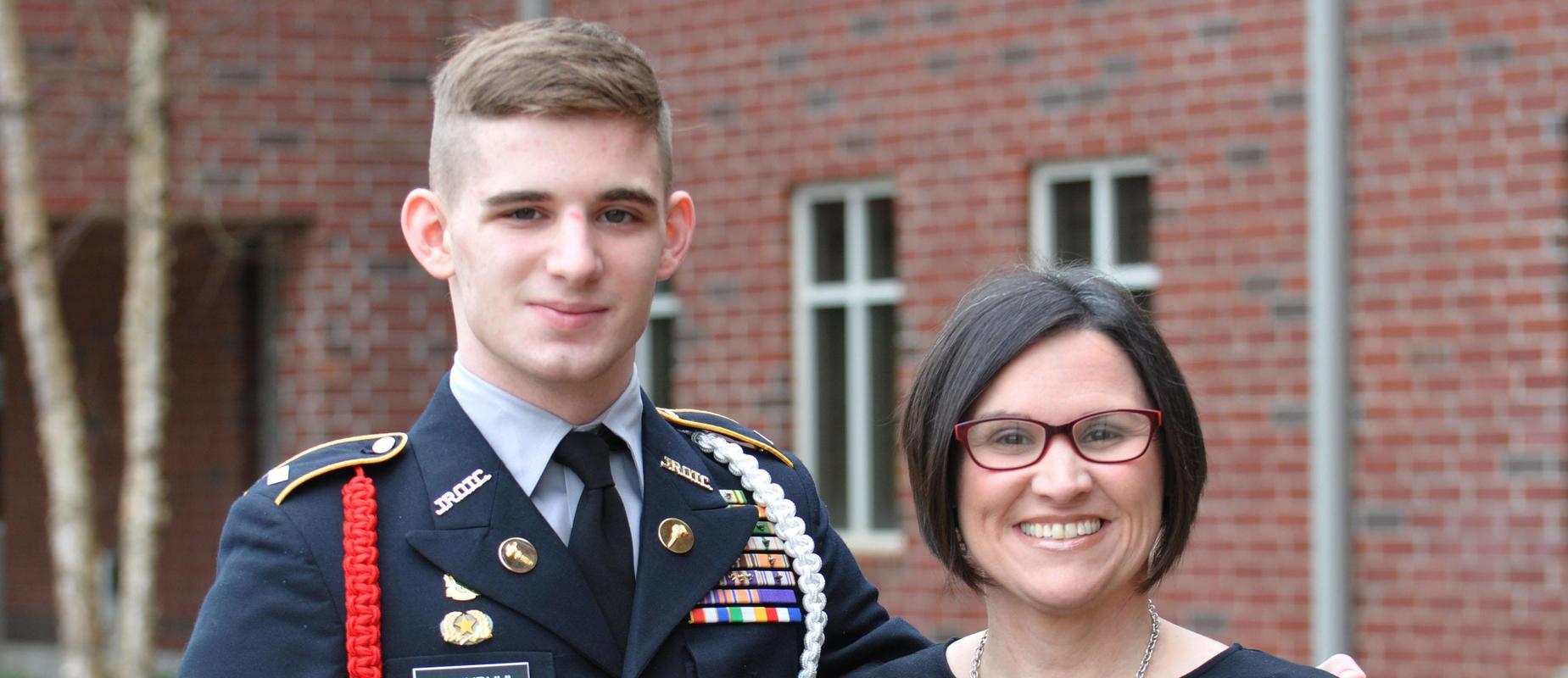 Brendan Luginbuhl named STAR student at AHS.