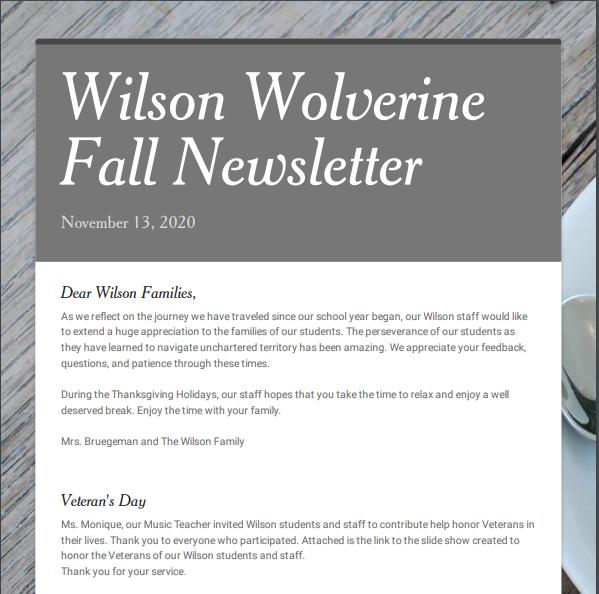 Fall Newsletter Thumbnail Image