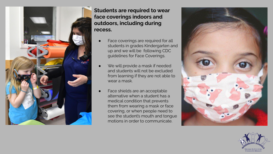 Students are required to wear a mask